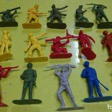 Figuras de Goma y PVC: LOTE DE 15 FIGURAS DE PLÁSTICO, 6 CM, PIPERO, JAPONESES. Lote 161682286