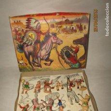 Figuras de Goma y PVC: ANTIGUA CAJA COWBOYS A CABALLO Y A PIE DE COMANSI PRIMERÍSIMA SERIE EN PLÁSTICO PINTADO. Lote 161721766