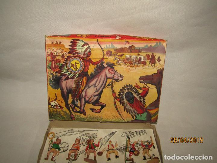 Figuras de Goma y PVC: Antigua Caja COWBOYS A CABALLO Y A PIE de COMANSI Primerísima Serie en Plástico Pintado - Foto 5 - 161721766