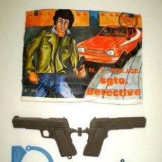 Figuras de Goma y PVC: LOTE MONTAPLEX SOBRE Nº 228 SARGENTO DETECTIVE VACÍO + CONTENIDO ORIGINAL. Lote 161904298