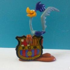 Figurines en Caoutchouc et PVC: FIGURA MUÑECO PVC CORRECAMINOS LOONEY TUNES FCB BARCELONA BARÇA WARNER BROS 1996 STAR TOYS. Lote 161965284