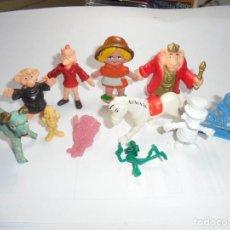 Figuras de Goma y PVC: MAGNIFICAS 11 FIGURAS ANTIGUAS DE PLASTICO. Lote 162013034