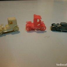 Figuras de Goma y PVC: LOTE DE 3 COCHES DUNKIN O CONGUITOS . Lote 162042162