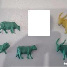 Figuras de Goma y PVC: MONTAPLEX ANIMALES VARIADOS TIPO DUNKIN AÑOS 60-70. Lote 162329724
