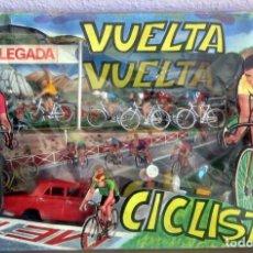 Figuras de Goma y PVC: MARIANO SOTORRES VUELTA CICLISTA AÑOS 60,NUEVO DE JUGUETERIA. Lote 162341938