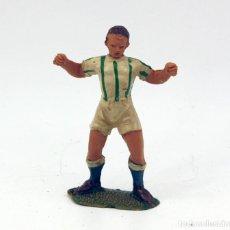 Figuras de Goma y PVC: ANTIGUA FIGURA FUTBOLISTA - JECSAN - AÑOS 60 - PLASTICO - LOTE Nº16. Lote 162371502
