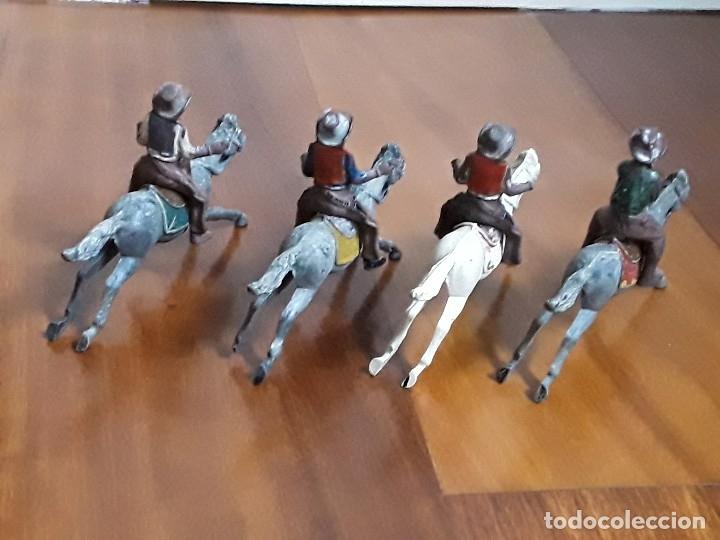Figuras de Goma y PVC: VAQUERO CON CABALLO DEL OESTE GOMA HERMANOS PECH AÑOS 50 - Foto 4 - 162398478