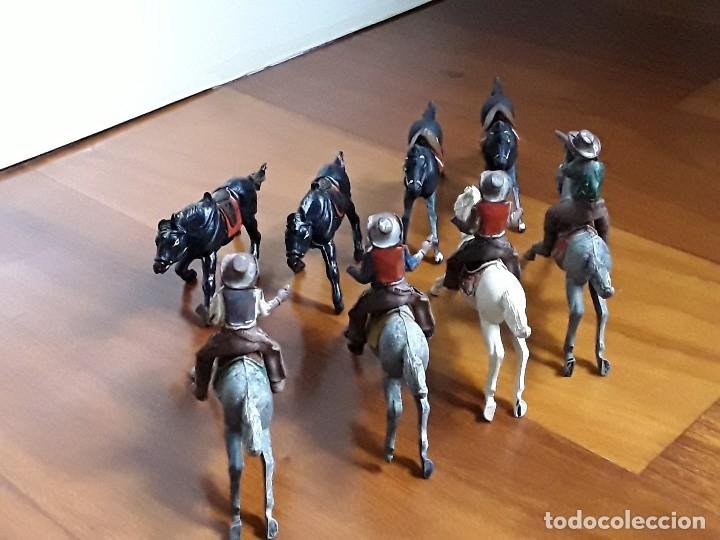 Figuras de Goma y PVC: VAQUERO CON CABALLO DEL OESTE GOMA HERMANOS PECH AÑOS 50 - Foto 6 - 162398478