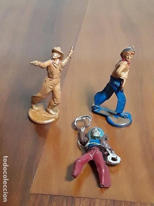 Figuras de Goma y PVC: VAQUERO DEL OESTE GOMA AÑOS 50, DE LA CASA GAMA - Foto 4 - 162400122