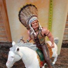 Figuras de Goma y PVC: TORO SENTADO, HÉROES OF THE WEST DE COMANSI (INDIO). Lote 162496170