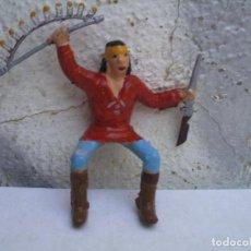 Figuras de Goma y PVC: INDIO APACHE DE REAMSA. Lote 162591334