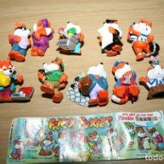Figuras Kinder: KINDER HUEVO SORPRESA - FANCY FUXIES ZORROS DE LUJO 1998 - JUEGO COMPLETO. Lote 162712862