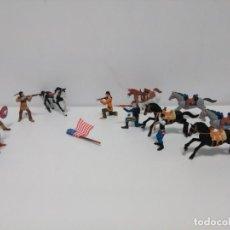 Figuras de Goma y PVC: LOTE INDIOS Y VAQUEROS CMS 2011. Lote 162757822