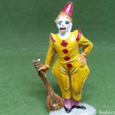 Gummi- und PVC-Figuren - Antigua Figura en Goma Payaso Circo con Mandolina. Jecsan, Original años 60. - 162799094