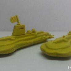 Figuras de Goma y PVC: PAREJA DE SUBMARINOS MONTAPLEX - INCOMPLETOS. Lote 288503303