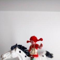 Figuras de Goma y PVC: PIPPI CALZASLARGAS Y PEQUEÑO TÍO. LAFREDO AÑOS 70.. Lote 162913229