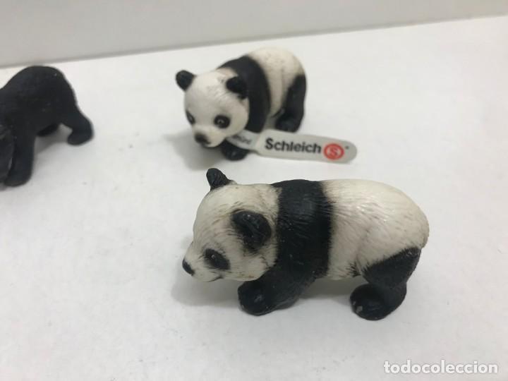 Figuras de Goma y PVC: LOTE 4 OSOS NEGROS Y 2 PANDAS DE GOMA SCHLEICH - Foto 3 - 163265974