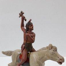 Figuras de Goma y PVC: GUERRERO INDIO A CABALLO . REALIZADO POR REAMSA . AÑOS 50 EN GOMA. Lote 163431938