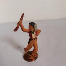 Figuras de Goma y PVC: FIGURA VAQUERO EN GOMA DE GAMA. Lote 163445414