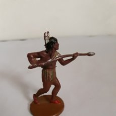 Figuras de Goma y PVC: FIGURA INDIO GOMA DE GAMA. Lote 163445629