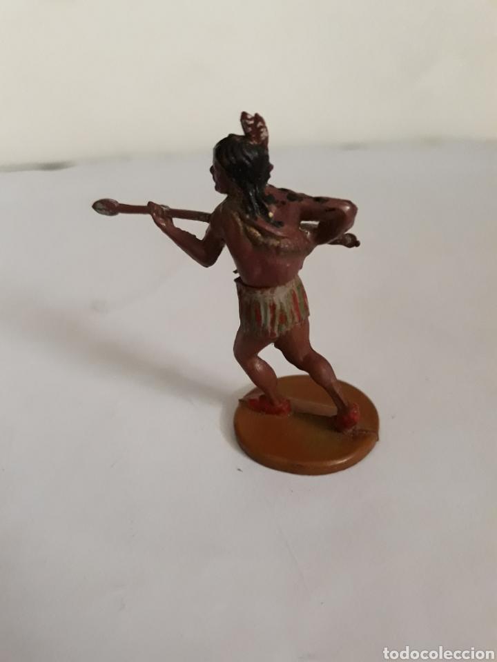Figuras de Goma y PVC: FIGURA INDIO GOMA DE GAMA - Foto 2 - 163445629