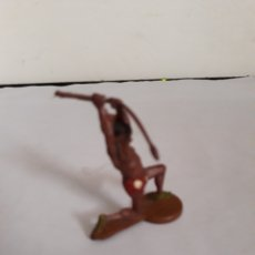 Figuras de Goma y PVC: FIGURA INDIO EN GOMA DE GAMA. Lote 163445833