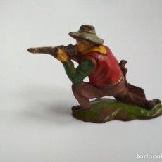 Figuras de Goma y PVC: FIGURA VAQUERO REAMSA GOMA AÑOS 50. Lote 163467450