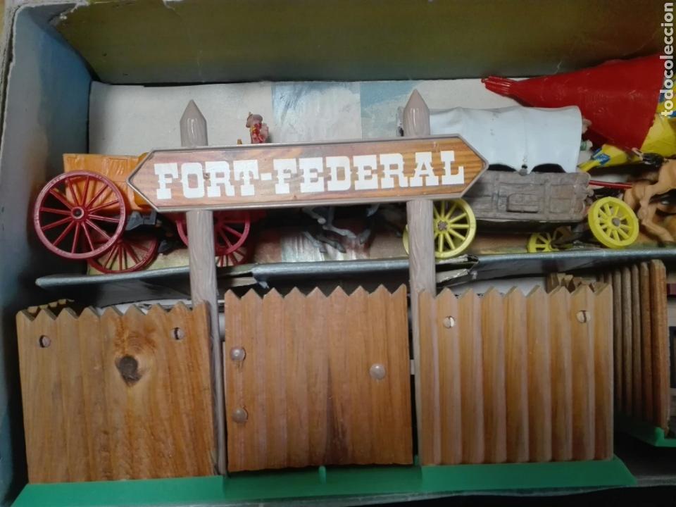 Figuras de Goma y PVC: Caja Todo El oeste Americano Comansi referencia 222 - Foto 3 - 163543568