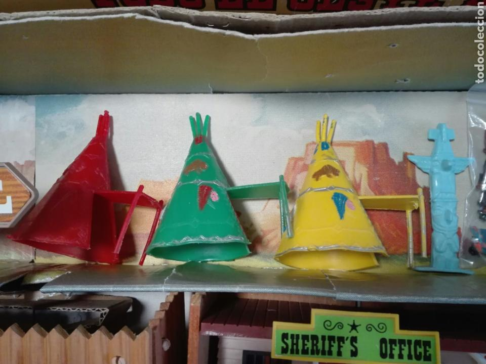Figuras de Goma y PVC: Caja Todo El oeste Americano Comansi referencia 222 - Foto 6 - 163543568