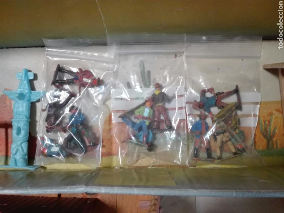 Figuras de Goma y PVC: Caja Todo El oeste Americano Comansi referencia 222 - Foto 9 - 163543568