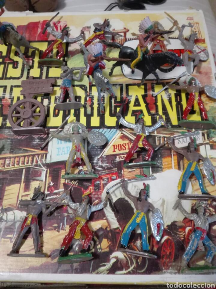 Figuras de Goma y PVC: Caja Todo El oeste Americano Comansi referencia 222 - Foto 11 - 163543568