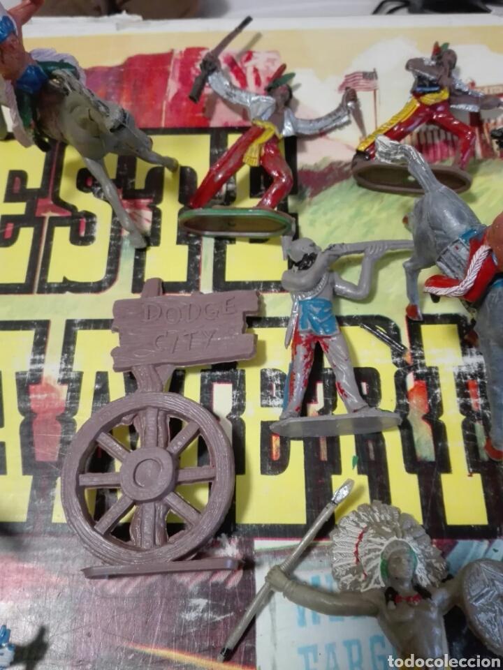 Figuras de Goma y PVC: Caja Todo El oeste Americano Comansi referencia 222 - Foto 12 - 163543568