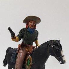 Figuras de Goma y PVC: JESSE CHISHOLM A CABALLO . HEROES OF THE WEST . REALIZADO POR COMANSI. Lote 163597862