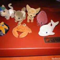 Figuras de Goma y PVC: 10 FIGURITAS DE ANIMALES EN TERCIOPELO. Lote 163600585