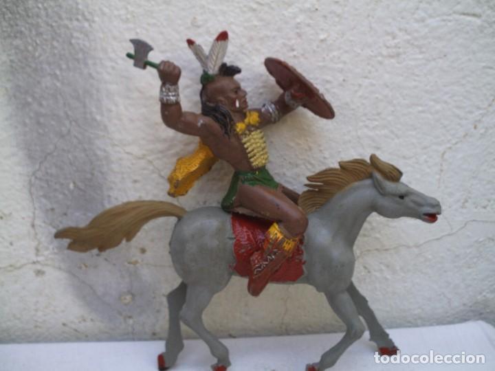 INDIO GRANDE Y CABALLO DE LAFREDO (Juguetes - Figuras de Goma y Pvc - Lafredo)