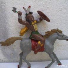 Figuras de Goma y PVC: INDIO GRANDE Y CABALLO DE LAFREDO . Lote 163610826