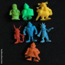 Figuras de Goma y PVC: LOTE 7 MUÑECOS FIGURAS SERIE ASTERIX DUNKIN PREMIUM UDERZO 80. Lote 50690224