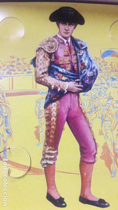 Figuras de Goma y PVC: CAJA DE LA CORRIDA DE TOROS - SIN CONTENIDO . REALIZADA POR PECH . AÑOS 60 - Foto 6 - 163762438