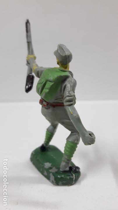 Figuras de Goma y PVC: SOLDADO JAPONES . REALIZADO POR PECH . AÑOS 60 - Foto 4 - 163959194