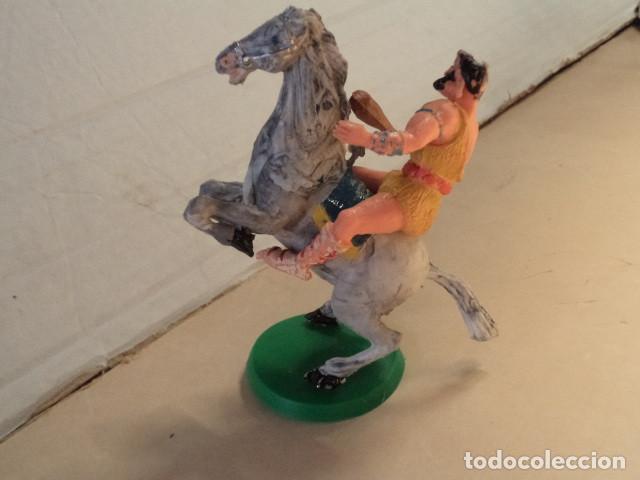 Figuras de Goma y PVC: FIGURA DE PLÁSTICO TAURUS A CABALLO ESTEREOPLAST - Foto 2 - 163968250