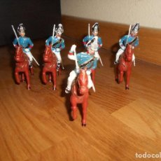 Figuras de Goma y PVC: GUARDIA REAL A CABALLO DE DESFILE DE GOMARSA O REAMSA , SOLDIS 5+5 UNIDADES. Lote 164118594