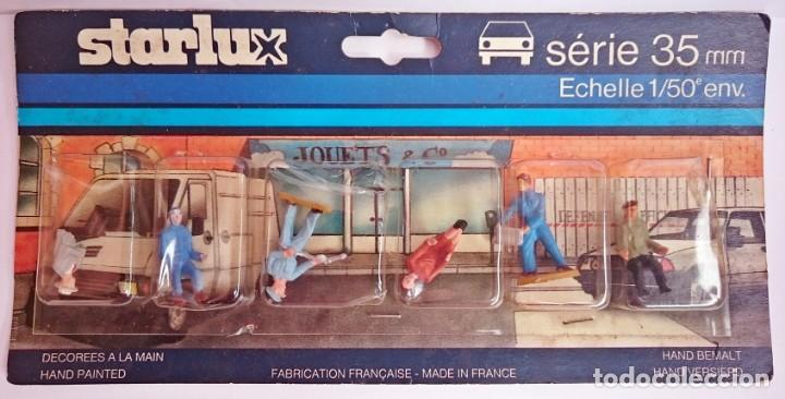 STARLUX FRANCIA - PACK 6 FIGURAS PINTADAS A MANO DE 35 MM - ESCALA 1/50 / EN PLÁSTICO (Juguetes - Figuras de Goma y Pvc - Starlux)