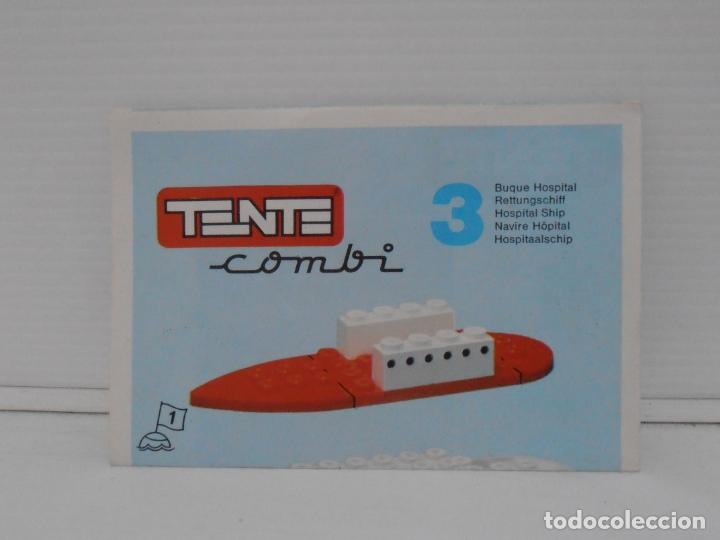 Figuras de Goma y PVC: TENTE COMBI 3, BUQUE HOSPITAL, EXIN REF 0303, COMPLETO, CAJA E INSTRUCCIONES - Foto 5 - 164203534