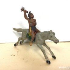 Figuras de Goma y PVC: FIGURA INDIO REAMSA GOMA OESTE WESTERN AÑOS 50 GOMA VAQUERO COWBOY . Lote 164335482