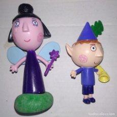 Figuras de Goma y PVC: NANA CIRUELA Y DUENDE DE BEN Y HOLLY. Lote 164948282