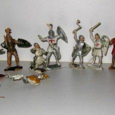 Figuras de Goma y PVC: LOTE SOLDADO CABALLERO MEDIEVAL REAMSA JINETE CRUZADAS . RICARDO CORAZON DE LEON. Lote 164971182