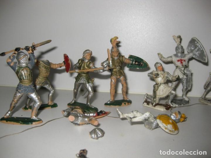 Figuras de Goma y PVC: lote soldado caballero medieval reamsa jinete cruzadas . ricardo corazon de leon - Foto 4 - 164971182