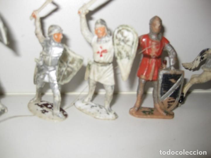 Figuras de Goma y PVC: lote soldado caballero medieval reamsa jinete cruzadas . ricardo corazon de leon - Foto 7 - 164971182
