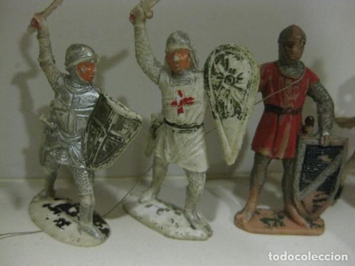 Figuras de Goma y PVC: lote soldado caballero medieval reamsa jinete cruzadas . ricardo corazon de leon - Foto 8 - 164971182