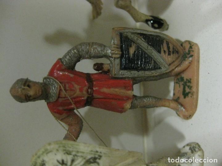 Figuras de Goma y PVC: lote soldado caballero medieval reamsa jinete cruzadas . ricardo corazon de leon - Foto 12 - 164971182